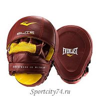 Лапы Everlast Pro Elite Leather Mantis красный